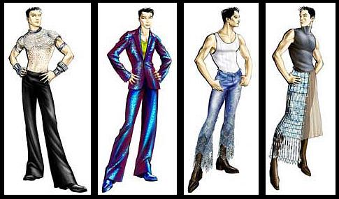让·保罗·戈尔蒂的时装设计图稿
