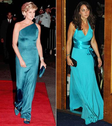 戴安娜王妃与凯特王妃-英国王室时尚 皇权中彰显的至高魅力 二