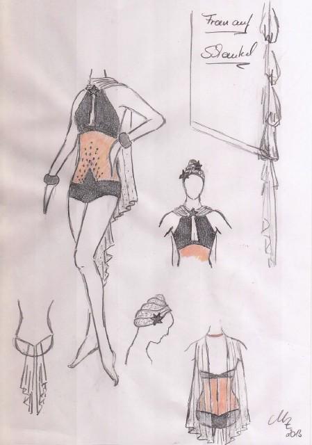刺绣服装画手绘