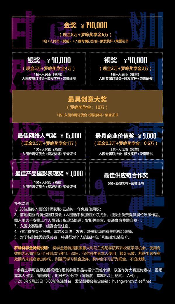2018中国深圳服装原创设计大赛奖金背后,了解一下?!Tue Aug 28 2018 14:18:19 GMT+0800 (中国标准时间)