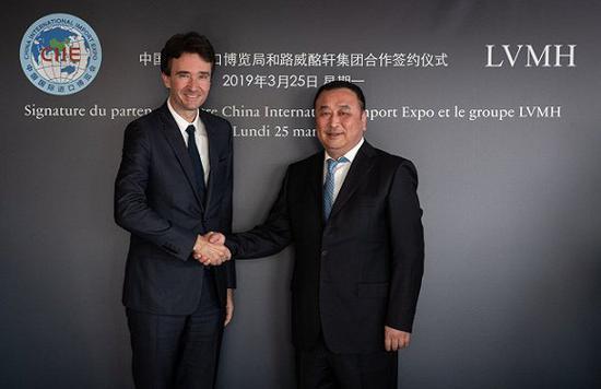 法国奢侈品巨头LVMH将参加第二届进博会Fri Mar 29 2019 08:00:12 GMT+0800 (中国标准时间)
