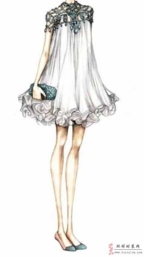 原创时装画作品-礼服