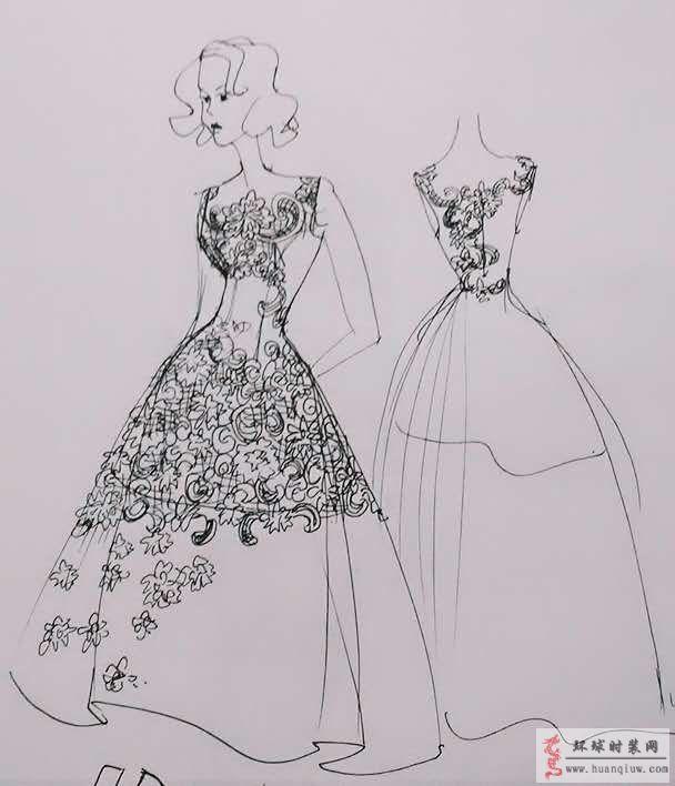 zw原创时装画-黑白礼服
