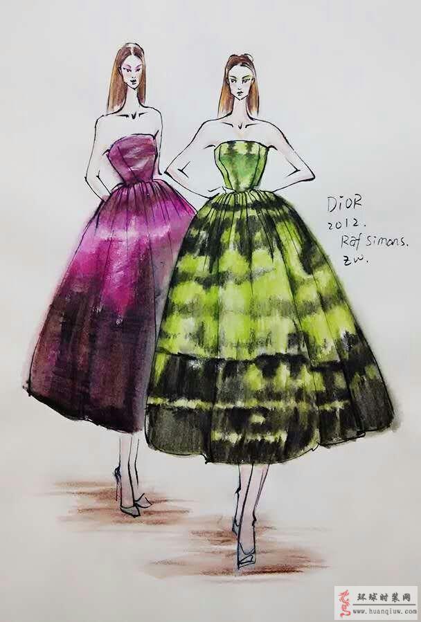 zw原创时装画-dior迪奥2012时装秀