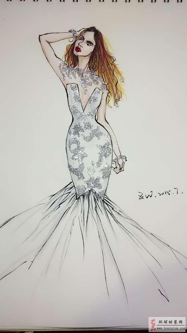 婚纱礼服设计图 手稿 服装设计