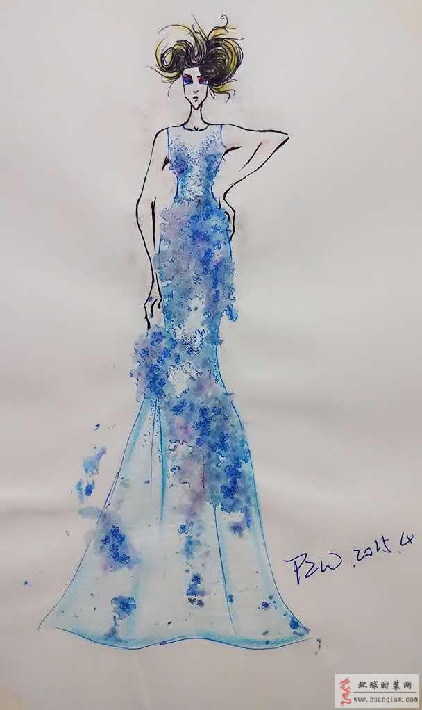 礼服裙-原创服装设计作品