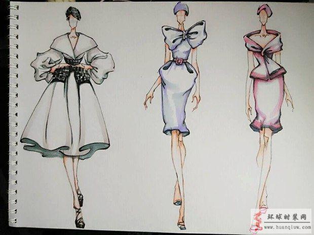 zw的作品-原创手绘服装设计图