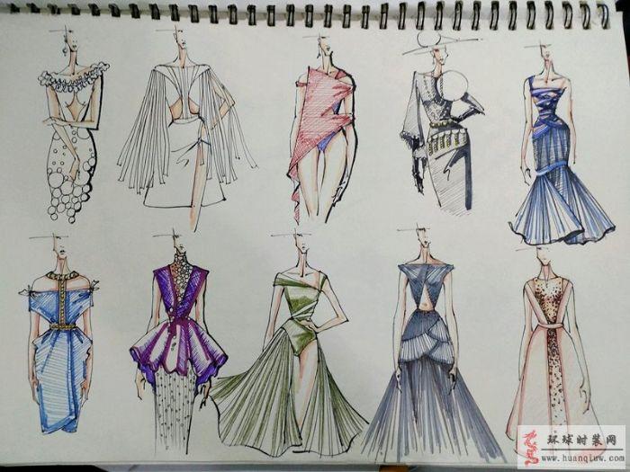服装设计手绘图-zw的作品-原创服装设计作品-环球时装