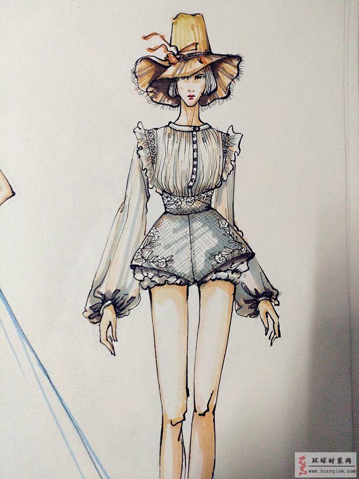 zw的作品-女装设计手绘图-原创服装设计作品-环球时装