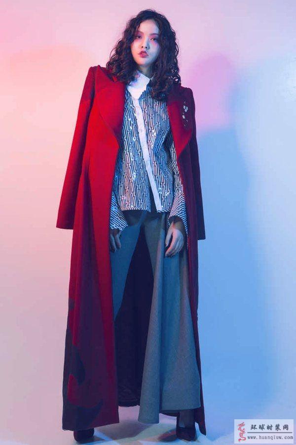 ZW结课秀作品-原创服装设计作品红色大衣+套装-ZW