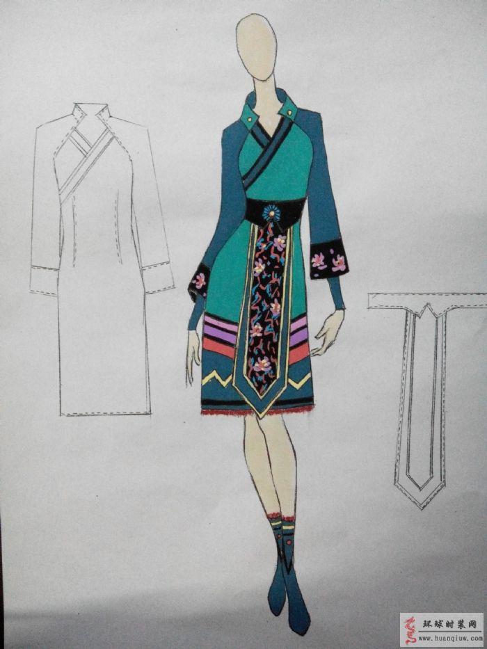 苗族迎宾1-原创服装设计作品-环球时装网