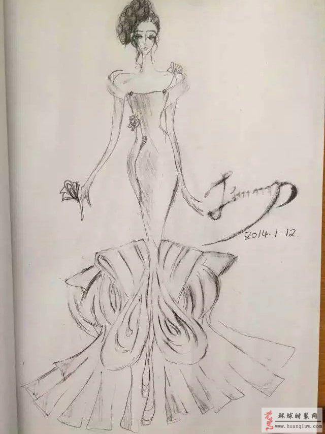 手绘袖子设计款式图