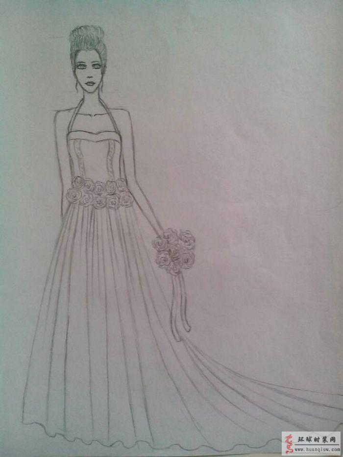 婚纱顺手绘设计图