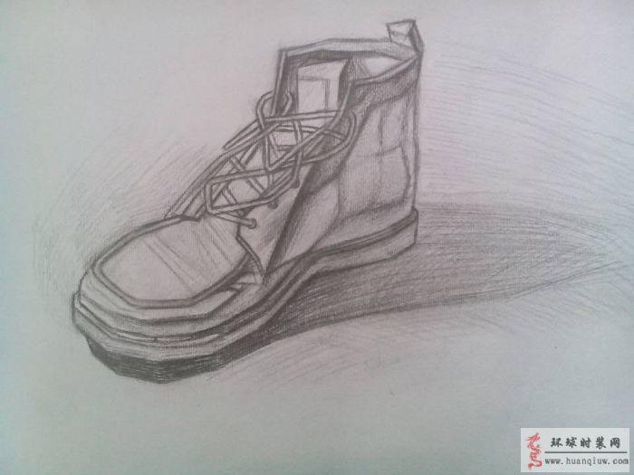 素描--鞋子-周珍梅