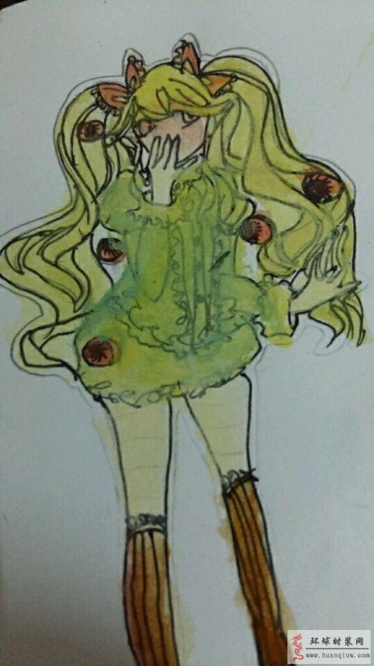 漫画美少女-蓝色柠檬草