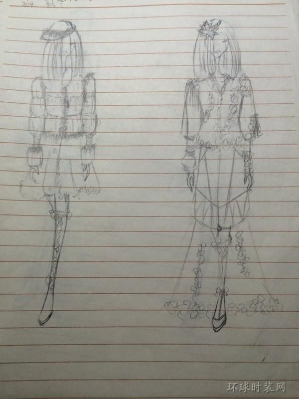 j的作品:原创手绘服装设计图