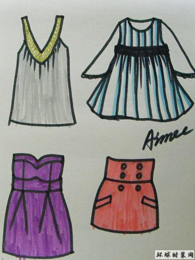 手绘服装款式图