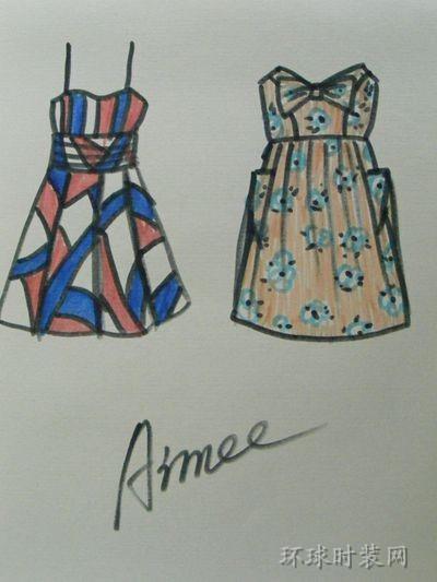 无袖连衣裙设计图分享展示