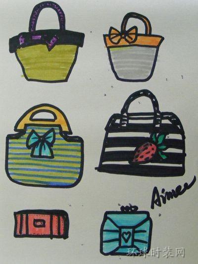 原创手绘包包设计图