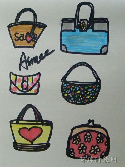 原创手绘设计图—包包