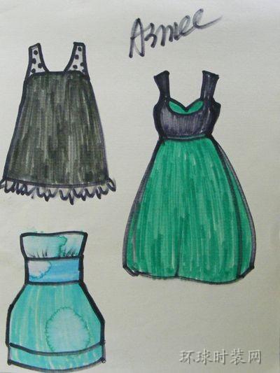 手绘原创礼服设计图-原创服装设计作品-环球时装网