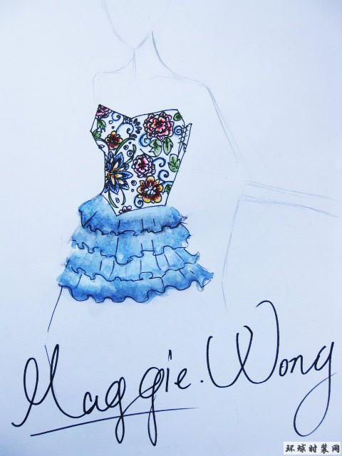 原创服装设计图,小礼服