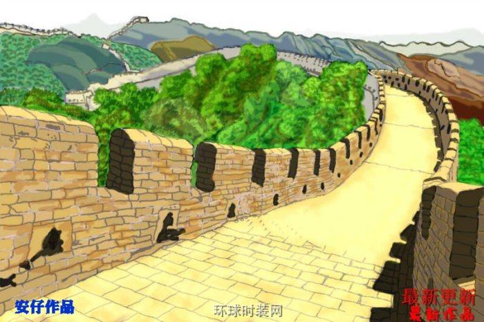 万里长城=安仔的绘画作品