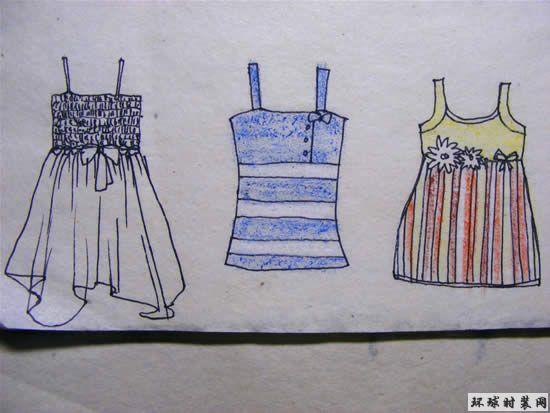 女装-吊带设计图-原创服装设计作品-环球时装网