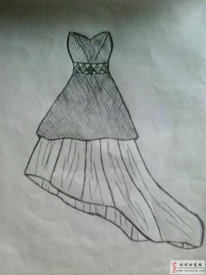 礼服手绘图素描