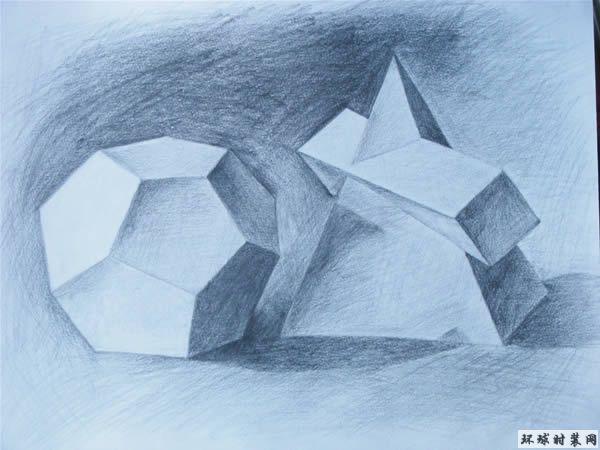 几何形体素描图片