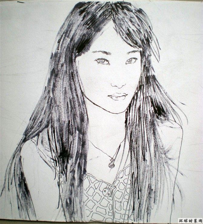人物速写-女生-鑫娆风云