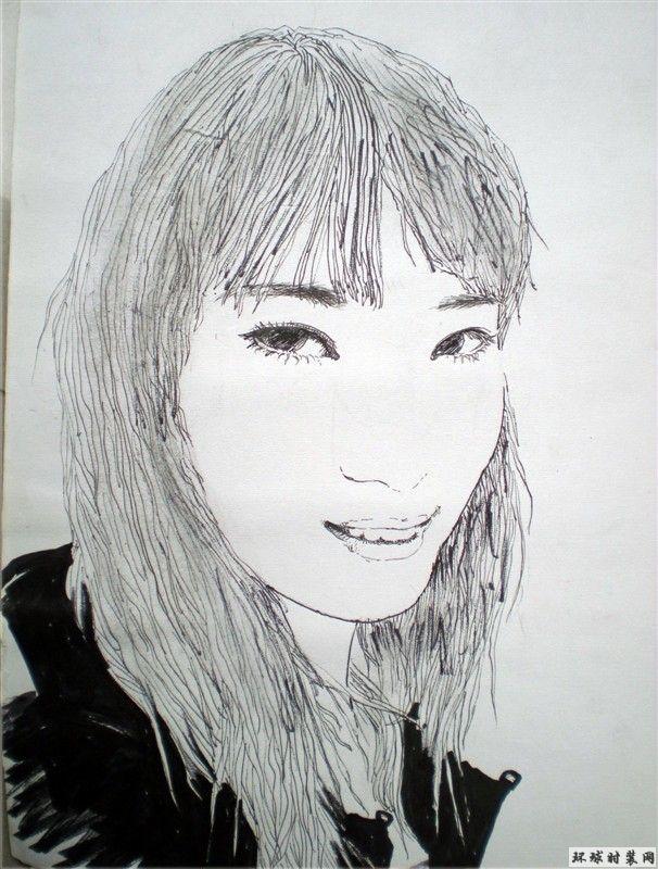 人物肖像速写-女生