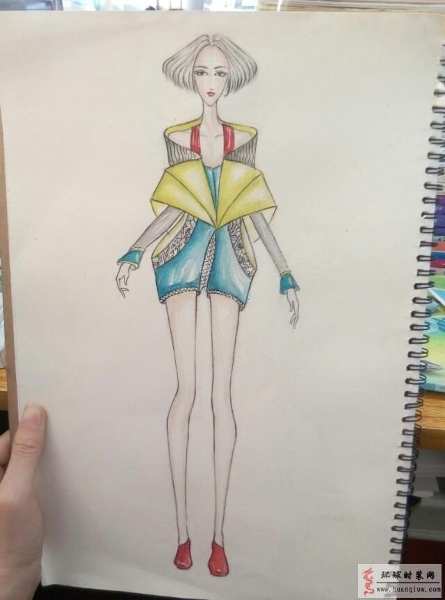 慕暖時裝設計作品:手繪女裝效果圖-原創服裝設計作品