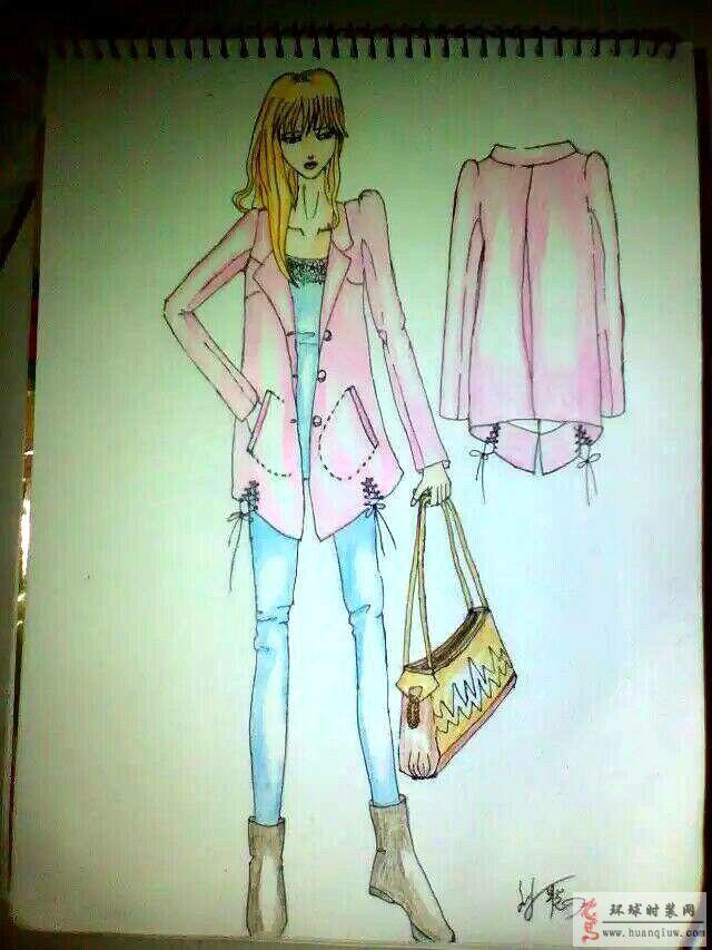 匆匆的作品-手绘女士休闲装效果图-原创服装设计作品