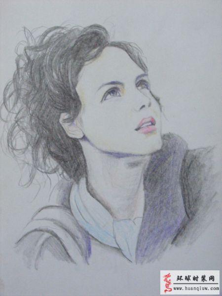 彩色铅笔肖像画