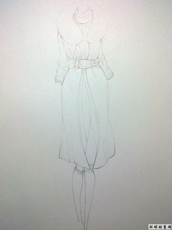 原创时装设计图-大衣-原创服装设计作品-环球时装网