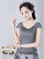 烟花烫YZ2014夏新款女装气质修身纯色蕾丝拼接短袖衬衫上衣 枫烟