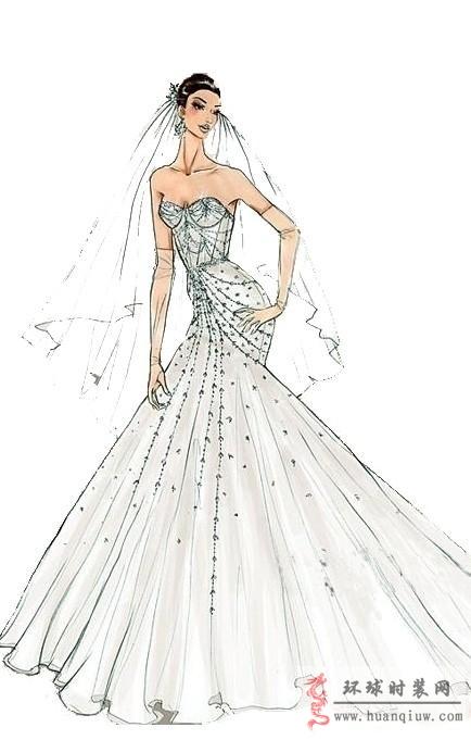 婚纱手绘设计图_20121132 - 时装设计师作品-时装周