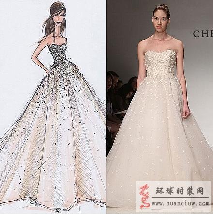 创意婚纱手绘设计图展示