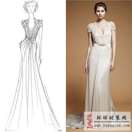 婚纱手绘设计图_20121142 - 时装设计师作品-时装周