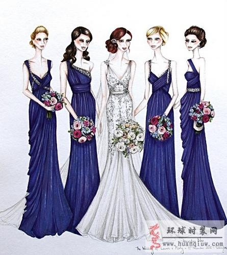 婚纱手绘设计图_20121149 - 时装设计师作品-时装周