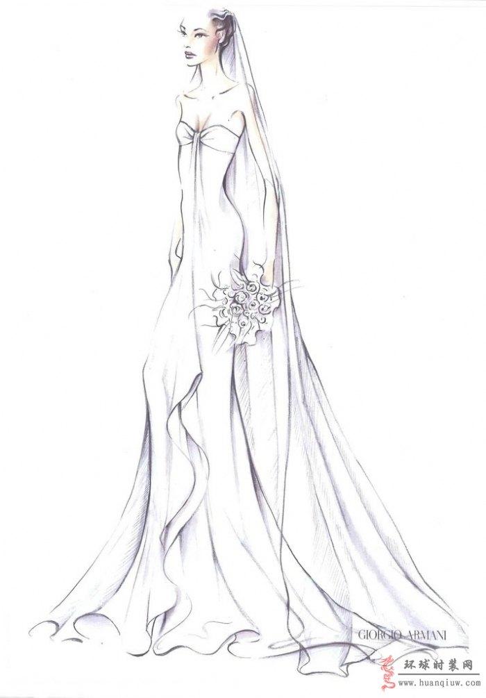 婚纱手绘设计图_20121222 - 时装设计师作品-时装周