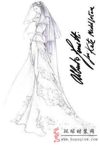 婚纱手绘设计图_20121229