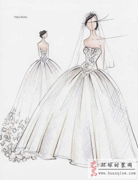 时装画手绘稿 婚纱手绘设计图 全屏显示 下载无水印版( 1 浏览(99)