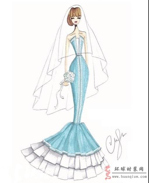 婚纱手绘设计图_20121232 - 时装设计师作品-时装周