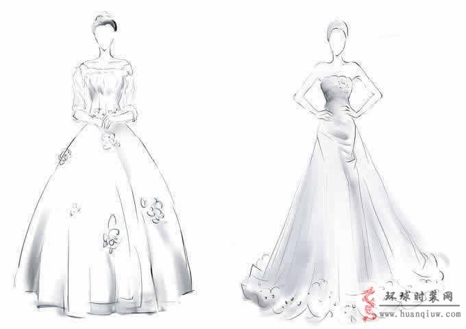 婚纱手绘设计图_20121237 - 时装设计师作品-时装周