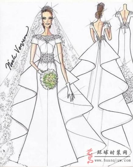 婚纱手绘设计图_20121238
