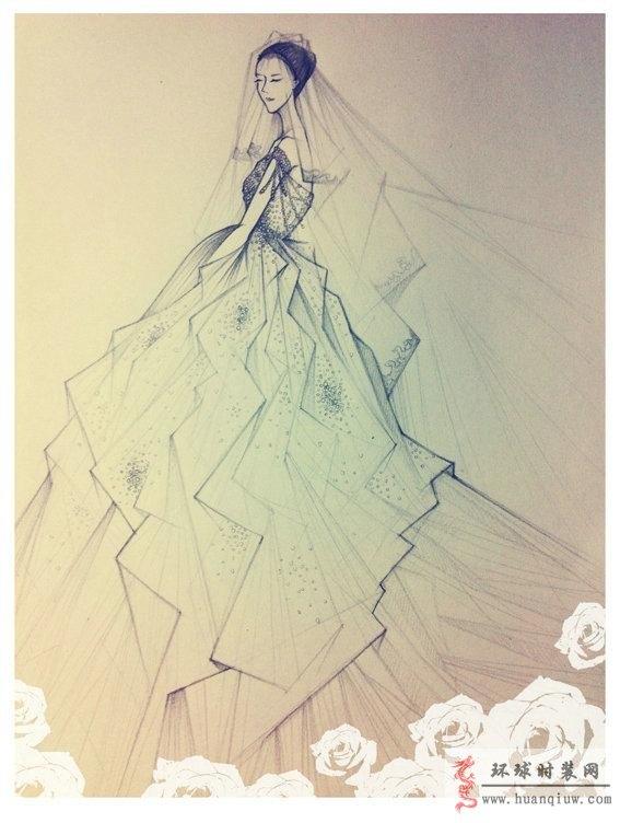 婚纱手绘设计图_20121248