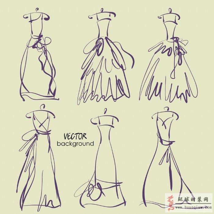 婚纱手绘设计图_2012134 - 时装设计师作品-时装周-秀