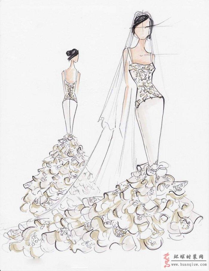 婚纱手绘设计图_20121312 - 时装设计师作品-时装周
